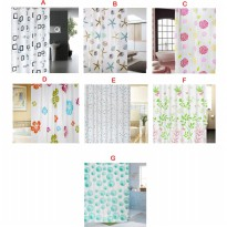 Tirai Kamar Mandi Digital Printed Polyester Waterproof Bathroom Shower Curtains Bathroom Decoration