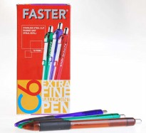 Ballpoint Faster C6 red Ink