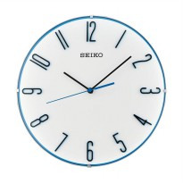 Seiko QXA672W Quiet Sweep Wall Clock Jam Dinding - Blue [30 cm]