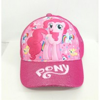0970010047 | TOPI LITTLE PONY GAMBAR TIMBUL IMPORT PINK