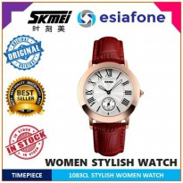 [esiafone happy sale] SKMEI Fashion Casual Ladies Leather Strap Watch - 1083CL - Jam Tangan Wanita