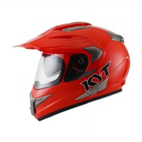 KYT ENDURO SOLID FIRE RED Helm Full Face