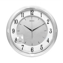 SEIKO QXA418S Quiet Sweep Wall Clock Jam Dinding - Silver [35 cm]