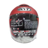 KYT KYOTO Helm Half Face - Solid Metalized Flat Red