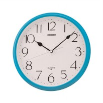 SEIKO QXA651-L Quiet Sweep Wall Clocks - Blue [28 cm]