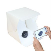 Photo Studio Mini dengan Lampu LED - White