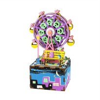 Robotime DIY Music Box Series Ferris Wheel AM402 Mainan Puzzle - Multicolor