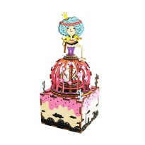 ROBOTIME AM405 DIY Music Box Series Swan Princess Puzzle - Multicolor