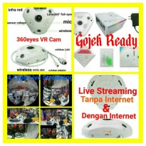 360 degree 4 Mode Live Streaming VR Cam Ip Camera Cctv 3D 960p 1.3Mp