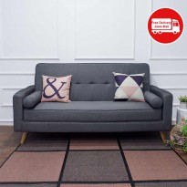 SOFA BED FABRIC LUX GREY