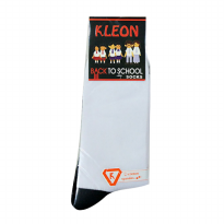 Kleon - School Socks - Kaos Kaki Sekolah - Dirt Free - Dasar Hitam - Superior Quality - 1 Pair