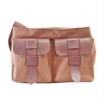 BKP Vintage Shoulder Bag Tas Kamera - Brown