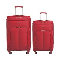 Navy Club 3831 Resleting Anti Tusuk Softcase Koper - Merah [20 dan 24 Inch]