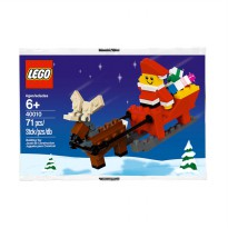 Lego Father Christmas with Sledge Building 40010 Mainan Blok & Puzzle