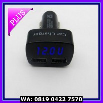 (Murah) 4in1 Car Charger, Voltmeter, AmpereMeter, Temperature, 3.1A