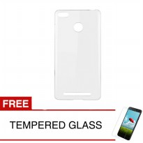 Crystal Case for Xiaomi Redmi 6 - 5.45 inch - Clear Hardcase +  Gratis Tempered Glass