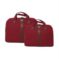 Navy Club 2084 Red Set Travel Bag [14 Inch + 18 Inch]