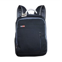 Bruno Polo WT-BP-6619 Backpack with Slot Laptop Tas Ransel - Hitam