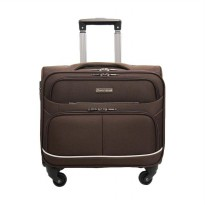Navy Club 2096 Softcase Cabin Koper - Coffee [16 Inch]
