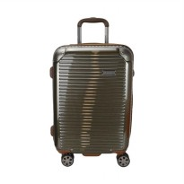 Hush Puppies 694013 Polycarbonate Hard Trolley Case Luggage - Gold [25 Inch]
