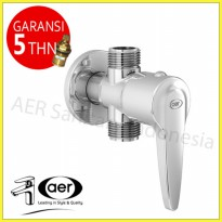 AER Kran Air Shower Cabang Kuningan/Brass Two Ways/Angle Faucet TF 01A