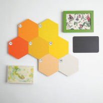 UCHII Hexagon Wall Deco Yellow Set 7s Wallpaper Sticker Hiasan Dinding