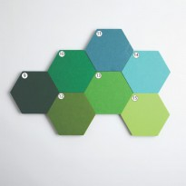 UCHII Hexagon Wall Decorative Green Set 7s Wallpaper Sticker Organizer