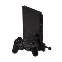 Sony Playstation 2 Slim 9006 Optik Game Console - Hitam [HDD 40GB/Refurbished]