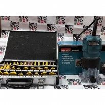 Paket Mesin Router Profil Trimmer Makita Router free Bit Set 35pc