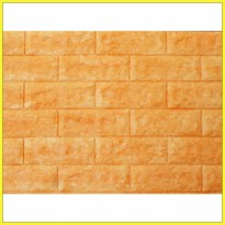 Roll Fix Brick 3D Soft Yellow Wallcover Foam Embossed - AB 23