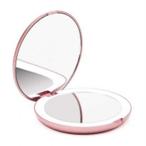 Cermin Lipat Makeup Pocket Size Mirror with LED Light FH804 - Putih