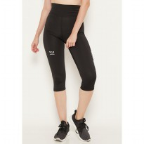 LB032 td active compression logo icon legging toreador olahraga wanita black