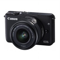CANON EOS M10 BLACK + EF-M15-45 IS STM Kit WiFi 18MP CMOS Touchscreen LCD Full HD (DATASCRIP) + SanD