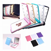 Cermin Make Up Rias Lipat  LED Fold Mirror Portable Serbaguna