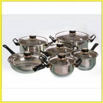 Panci Set Vicenza V 612 (Stainless Cookware)