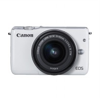 CANON EOS M10 WHITE + EF-M15-45 IS STM Kit Wifi 18MP CMOS Touchscreen Lcd Full Hd (Datascrip) + Sand