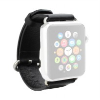 OEM Unisex Leather Strap for Apple Watch or iWatch 42 mm - Black