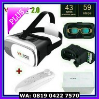 (Diskon) VR / Virtual Reality Box V.2.0 + Remote Bluetooth