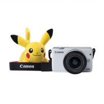 Canon EOS M10 Kit EF-M 15-45mm IS STM Kamera Mirrorless - White + Free Pokemon Special Edition