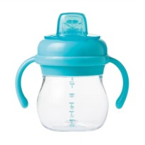 OXO Tot Grow Soft Spout Sippy Cup with Removable Handles-6oz.-Aqua