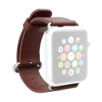 OEM Unisex Leather Strap for Apple Watch or iWatch 38 mm - Brown