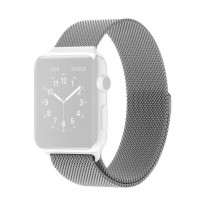 OEM Unisex Stainless Steel Magnet Strap for Apple Watch or iWatch 38 mm - Silver