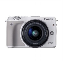 Canon EOS M3 with EF-M15-45mm Camera - White