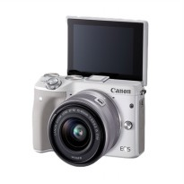 Canon EOS M3 Kit EF-M15-45mm Kamera Mirrorless - White