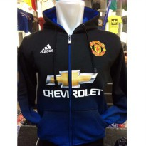 Jaket Hoodie Bola Gradasi Manchester United M-731 The Red Devils MU Fans