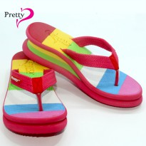 SANDAL WANITA WEDGES 'PRETTY' [PELANGI]