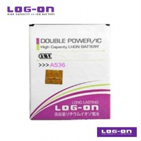 LOG-ON Battery For Lenovo A536 - Double Power & IC Battery - Garansi 6 Bulan