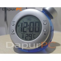 Jam Meja Digital LED Tenaga Air