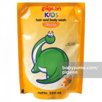 Pigeon Kids Hair & Body Wash Refill 350ml - Orange Mango
