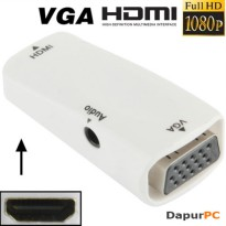 HDMI Female to VGA and Audio Adapter for HDTV / Monitor / Projector
